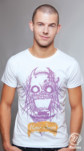 MooTees cool graphic tees for men Macabre 04 white 05