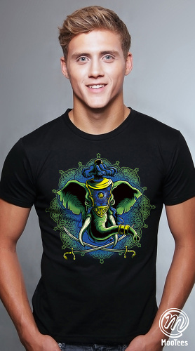 MooTees cool graphic tees for men Mystique 03 black