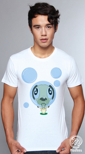 MooTees cool graphic tees for men Puggy 02 white 01