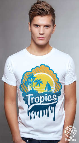 MooTees cool graphic tees for men Summer Days 05 white 01