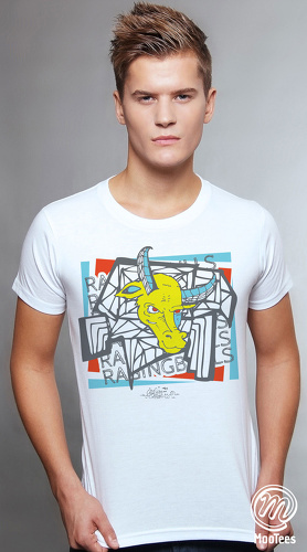 MooTees cool graphic tees for men Surreal 01 white 01