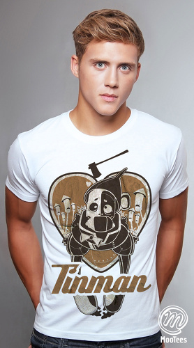 MooTees cool graphic tees for men The Wizard Of Oz 04 white 02