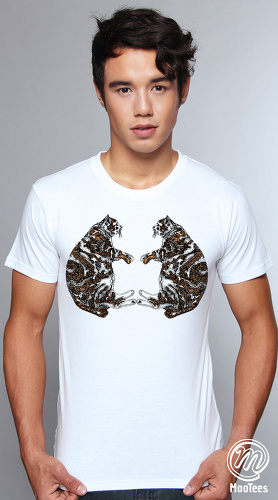 MooTees cool graphic tees for men Twin Gene 05 white