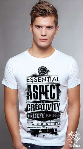 MooTees cool graphic tees for men Typographical 01 white 01