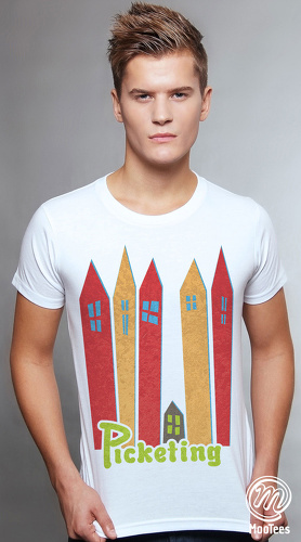 MooTees cool graphic tees for men Urbanite 05 white 01