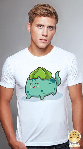 Peperpine cool graphic T shirts for men Lashes Bulba Cat white