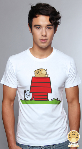 Peperpine cool graphic T shirts for men Marbles 01 Dog House white