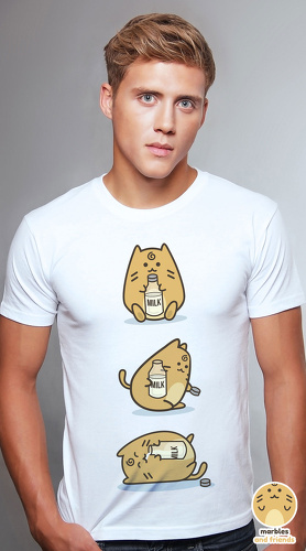 Peperpine cool graphic T shirts for men Marbles Milk white